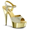DELIGHT-609G Gold Chrome/Rhinestone
